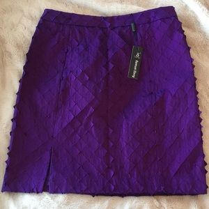 Samuel Dong | Purple Textured Skirt, Large